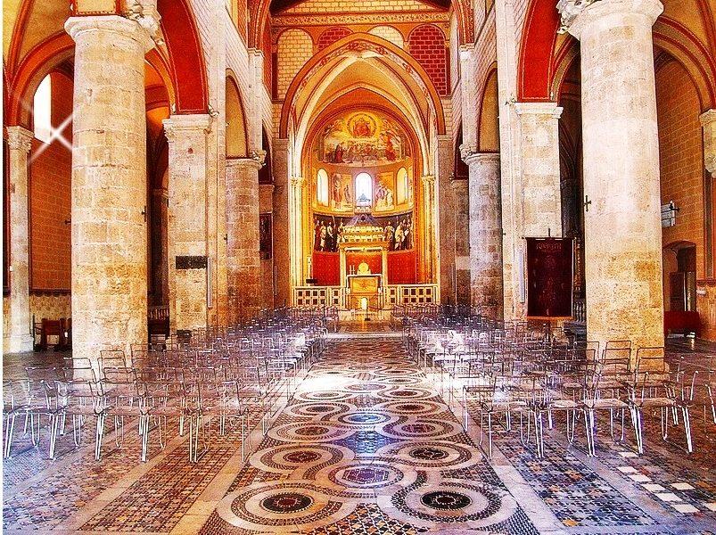 la cattedrale di Anagni - Cattedrale Di Anagni vista dall'interno