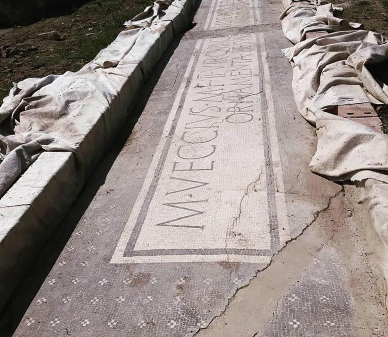 Aquinum - iscrizione rinvenuta