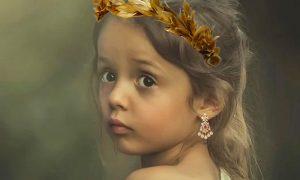 La bambina romana - Bambina Romana ornata da gioielli