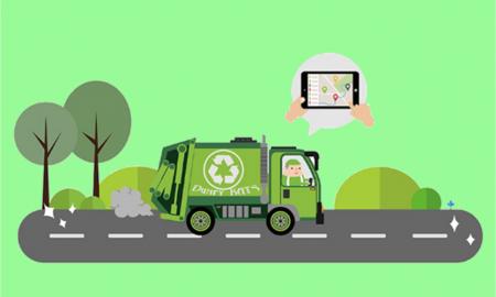Ecocentro di Frosinone - Camion Ecologico che va all'isola ecologica