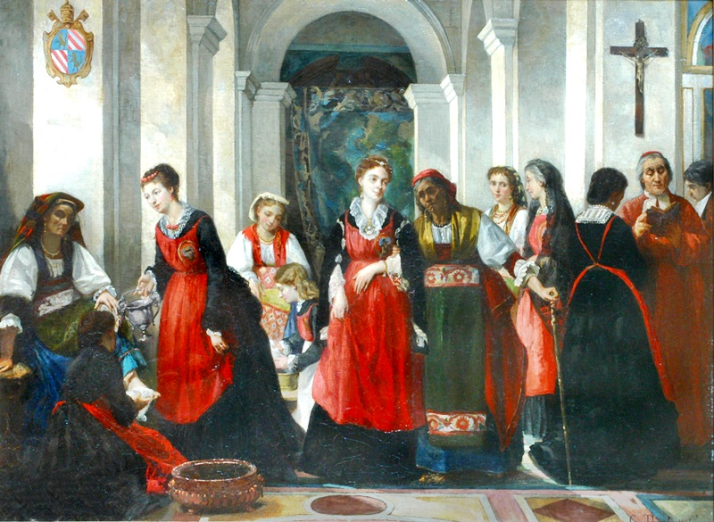 la chiesa dei ciociari a Roma - la Perdonanza in un dipinto