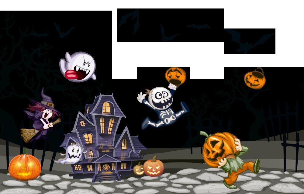 Halloween - Casa con fantasmi e Pipistrelli