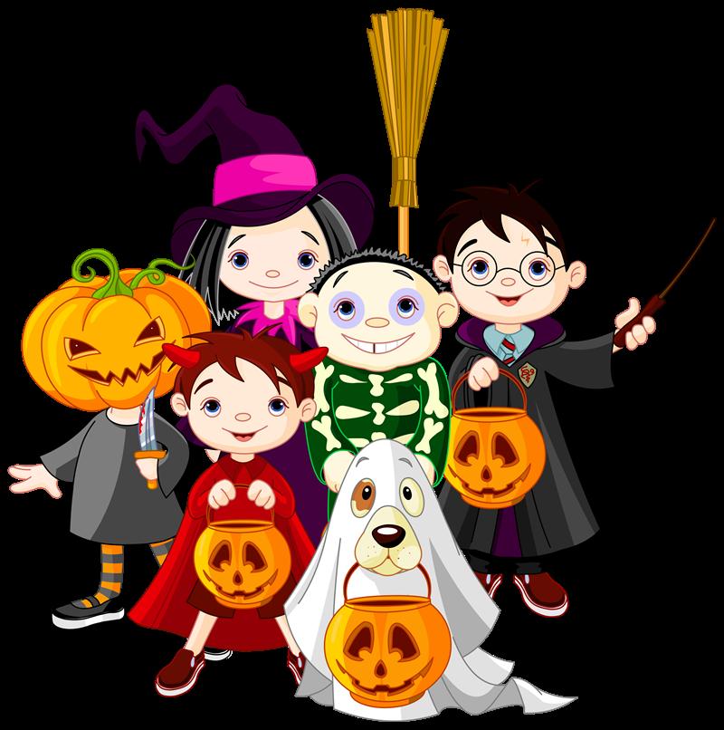 Halloween - Gruppo Di Halloween e zucca