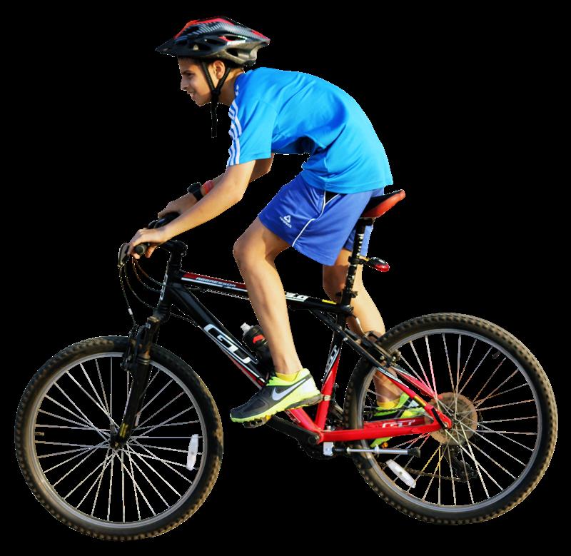 Fibra ottica - Ragazzo In Bici che corre in gara