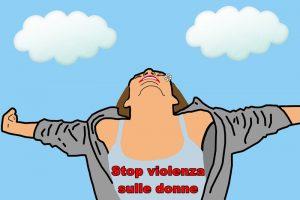 violenza sulle donne - Donna che mostra uno slogan