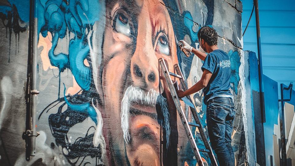 Frosinone città delle arti - Murales in allestimento
