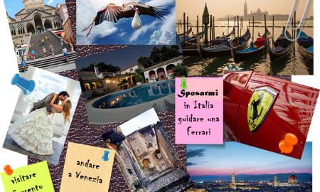 Visione board - esempio di Vision Board Italy