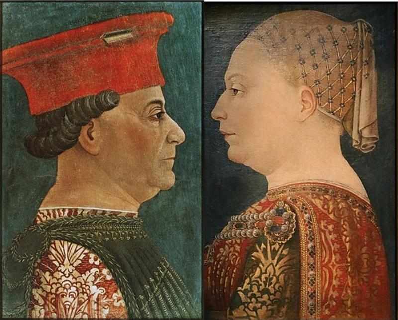 Bianca Maria Visconti - la dama con il marito Fracesco Sforza