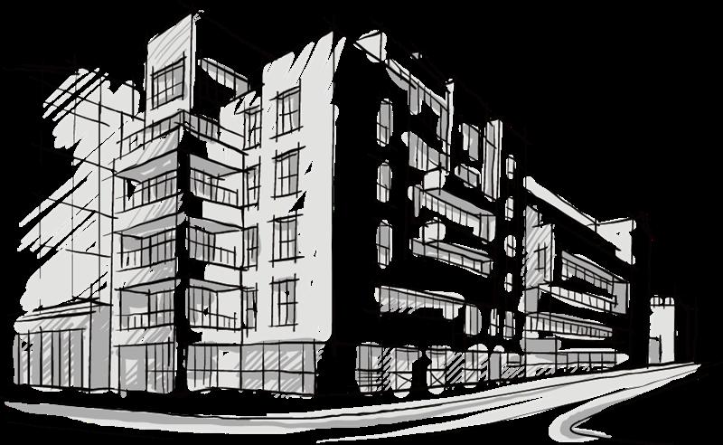 Bozzetto - schema di lavoro architettonico
