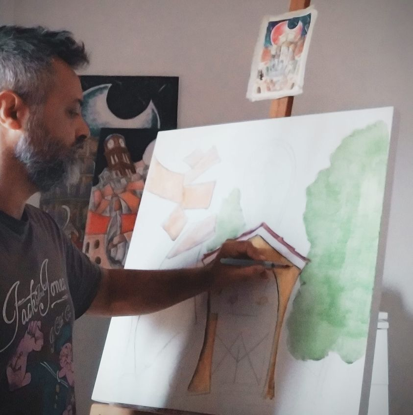 Atelier - Gianluca Campoli al lavoro