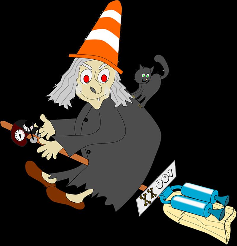 La Befana - Befana Con Gatto e il reattore