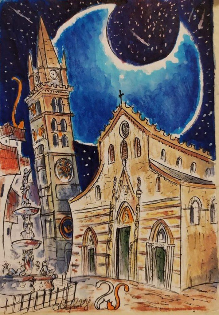 Il disegnatore di lune - Centro Storico con il bel campanile