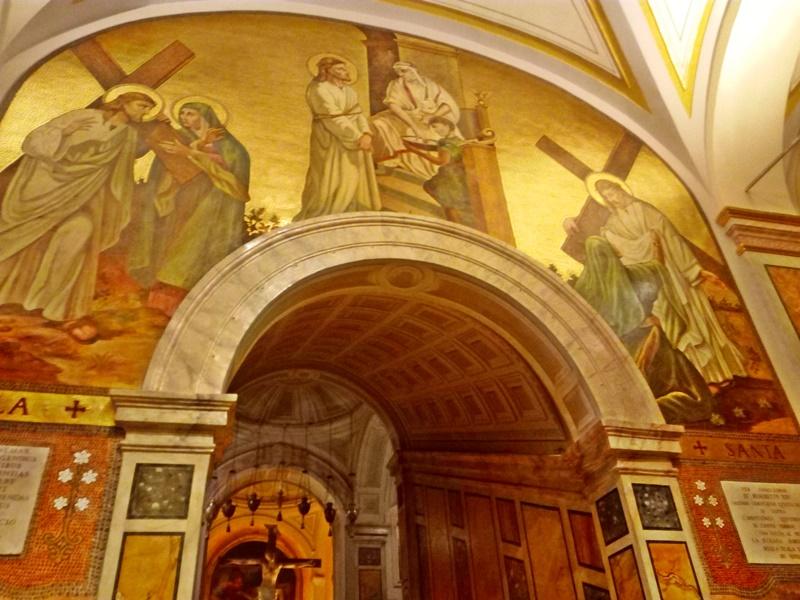 Santa salome - i mosaici che vediamo sulla scala Santa