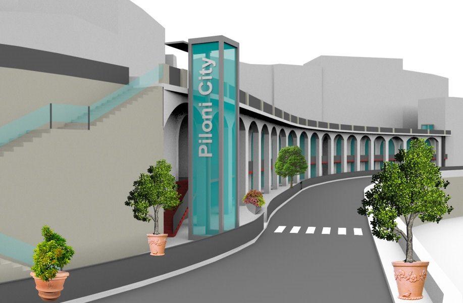 Piloni City - Piloni Basso nella ricostruzione