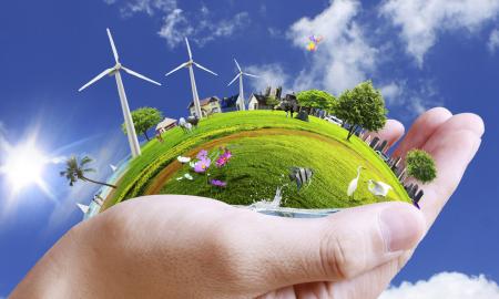 La Raccolta rifiuti ingombranti - una mano che idealmente protegge la terra