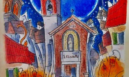 Il disegnatore di lune - Santa Elisabetta in primo piano