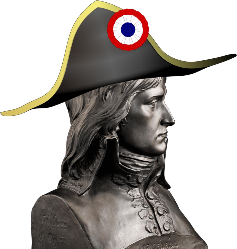Mezzo Busto In Bronzo - il tricorno del generale