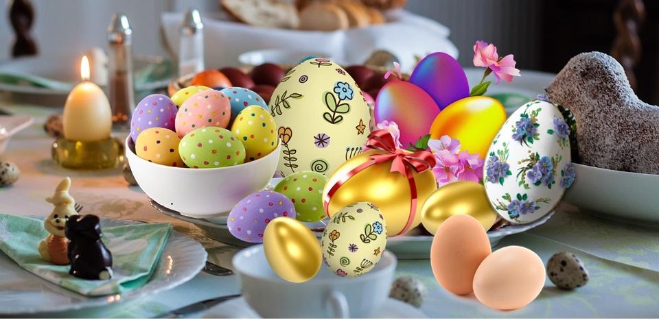 Le ciambelle di Pasqua ciociare - Colazione Di Pasqua su tavola imbandita