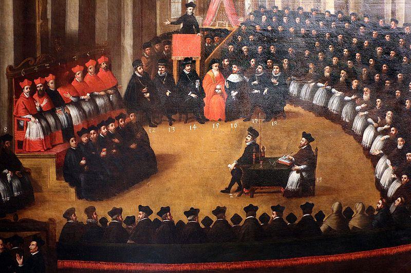 Le uova del concilio di Trento - un dipinto a olio