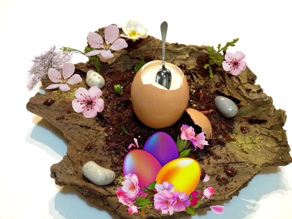 le uova stregate - Guscetto con fiori di pesco