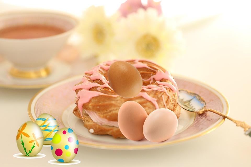 Le ciambelle di Pasqua ciociare - Piattino con cucchiaino da dolce
