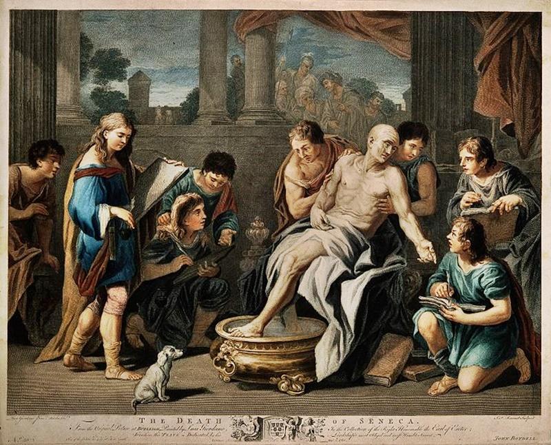 Seneca - foto di dipinto con un pediluvio