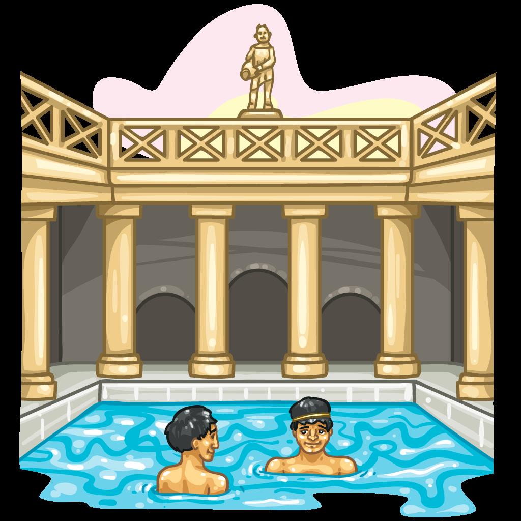 Acqua puzza di Ferentino - Terme Romane in una vignettta