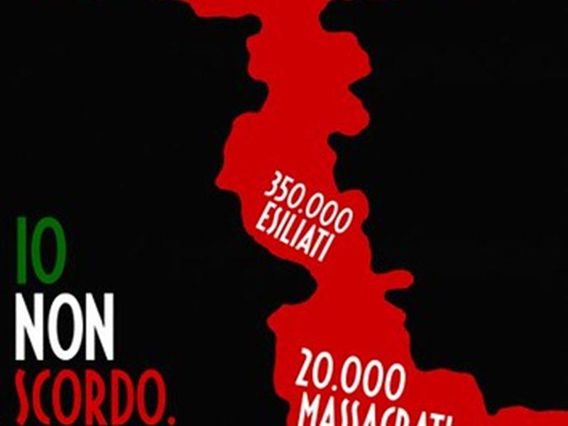 Frosinone riconosce l'eccidio delle foibe - Foibe in un manifesto
