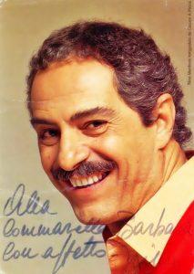 Manfredi ciociaro - Saturnino Manfredi in foto con dedica