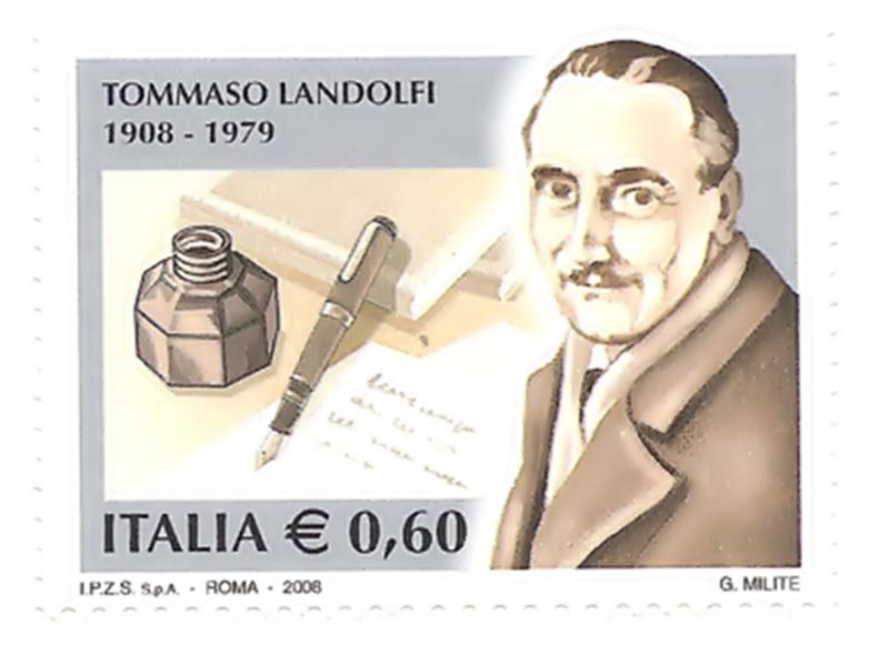 Pico - Tommaso Landolfi su un francobollo
