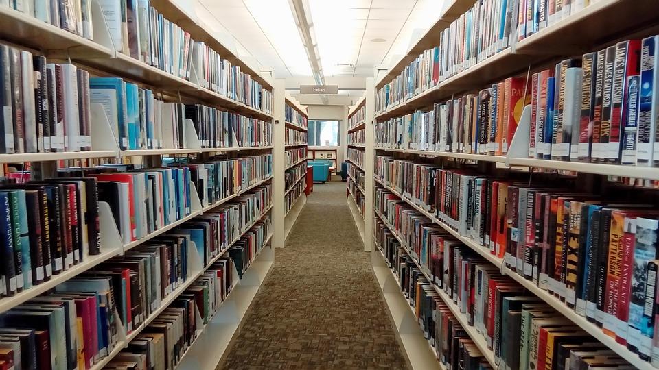 Ampliamento del sistema bibliotecario a Frosinone - Scaffali della biblioteca