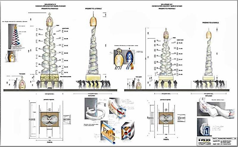 Il reliquiario dei patroni di Frosinone - Torre in progettazione