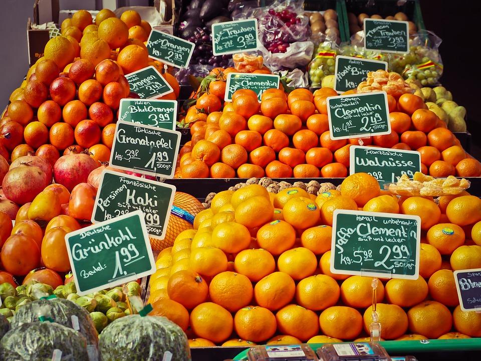 Alimentazione anti #Covid-19 - Arance al mercato