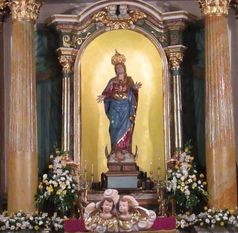 La Madonna del Suffragio - La Nicchia con la Madonna