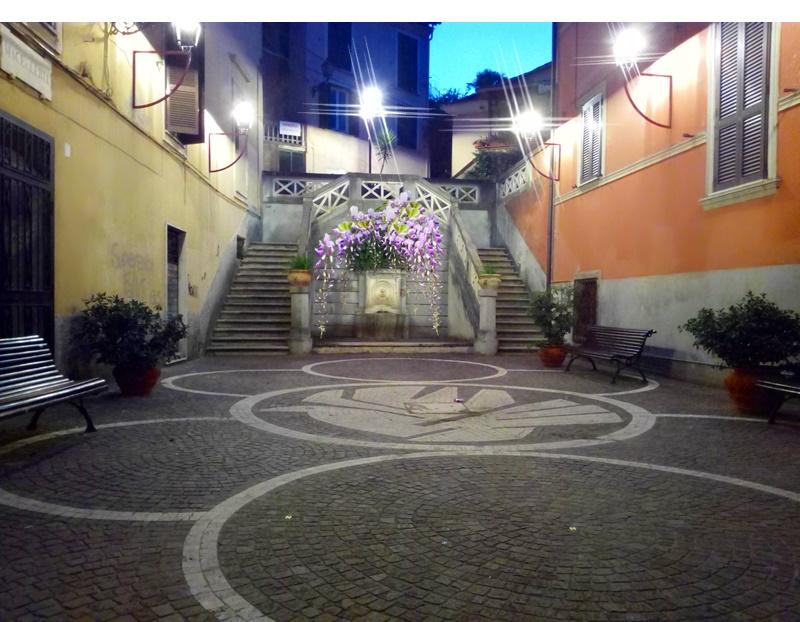 La terrazza del Belvedere  - Piazzetta del santo patrono