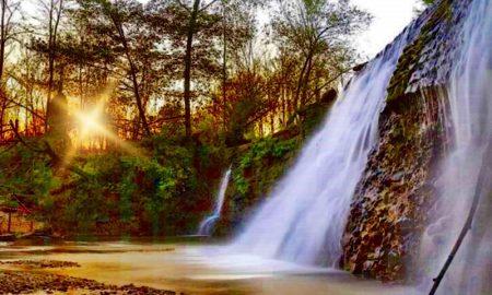 Schioppo monumento naturale - Cascatella al tramonto