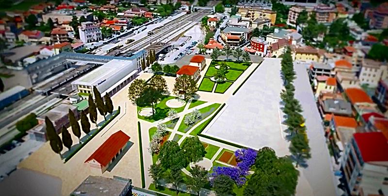 Pinacoteca a Frosinone e nuovo museo - Stato Di Progetto della stazione