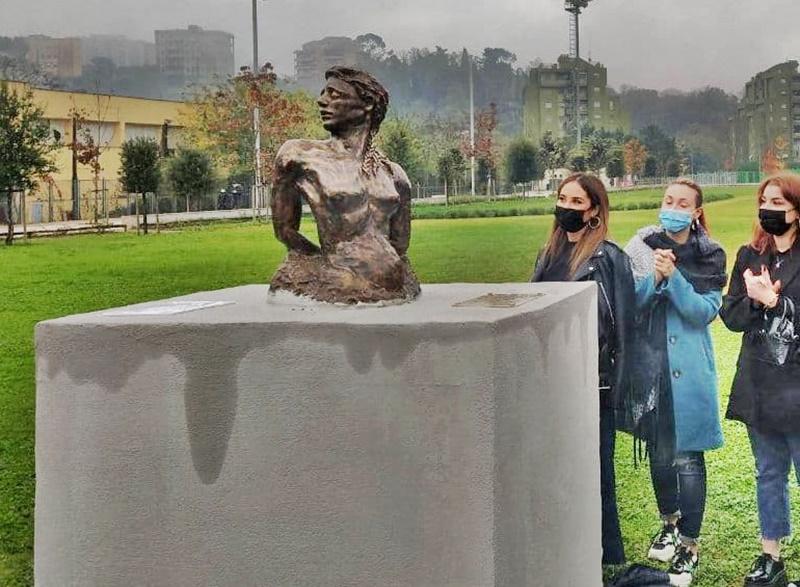 Frosinone ricorda le Marocchinate - Viola la scultura