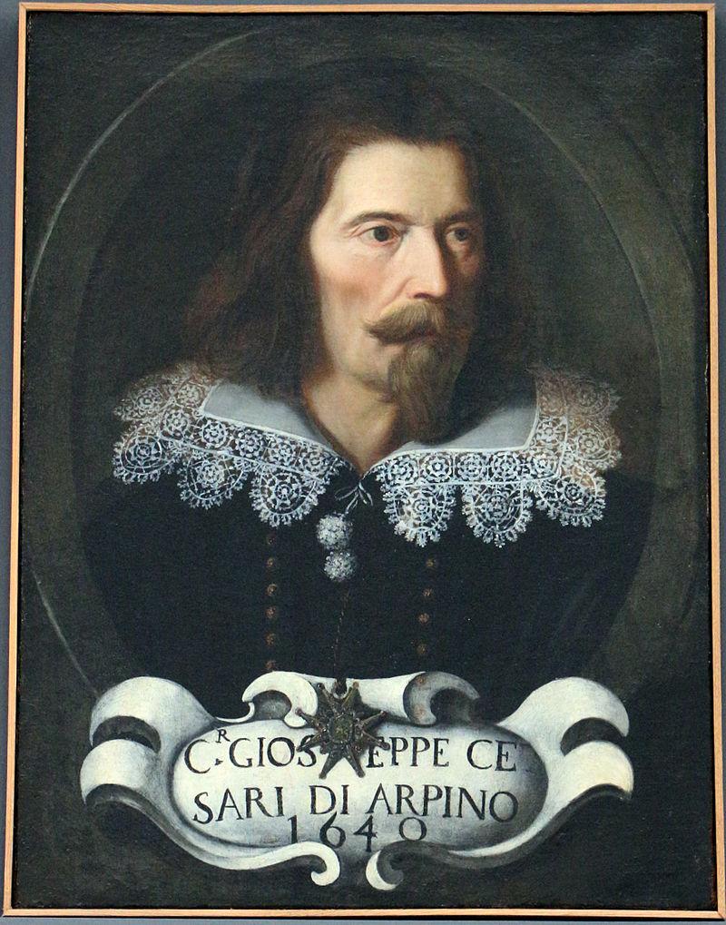 Sala degli Orazi e Curiazi - Giuseppe Cesari in un ritratto