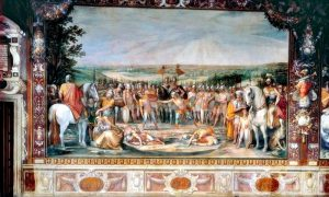 Sala degli Orazi e Curiazi - l'affresco nei musei