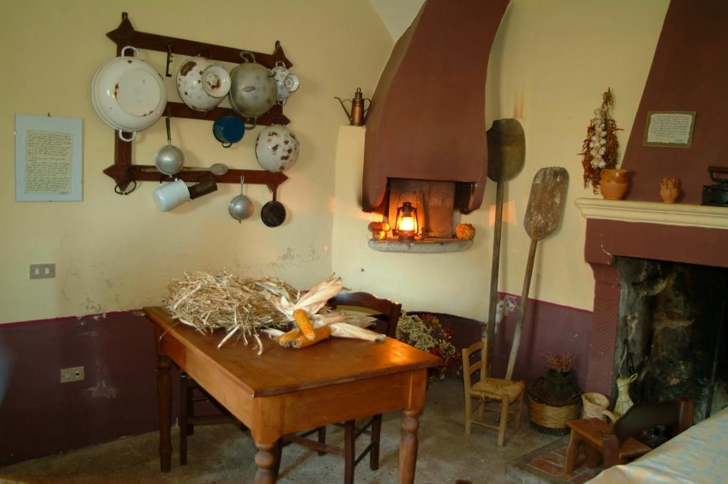 Casa Lawrence - cucina con Camino