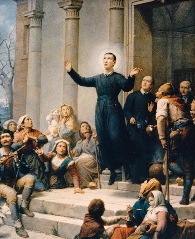 Il fazzoletto di San Gerardo - Elevazione Del Santo in un dipinto