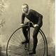 Ciclismo storico a Frosinone - Foto Di Velocipede in foto seppia