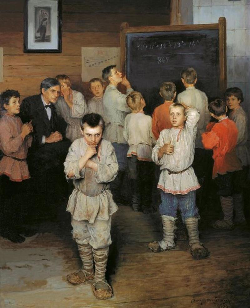 ciocie - foto di bambini russi nel dipinto