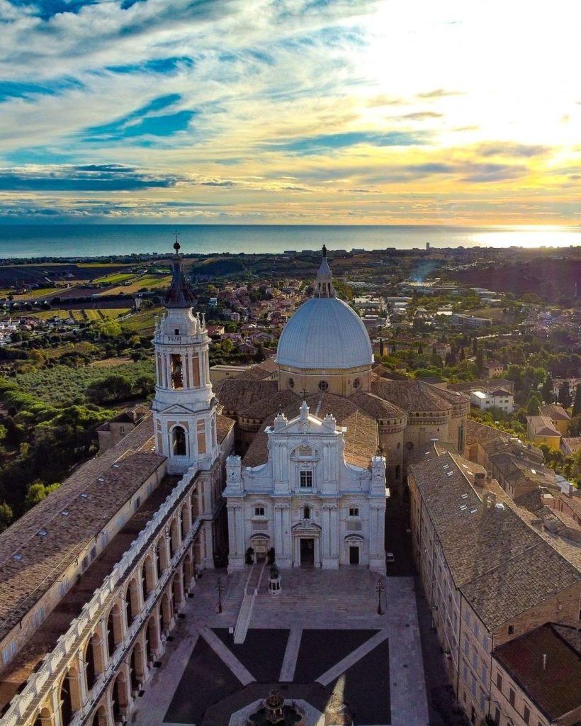 Pellegrinaggio a Loreto - foto della basilica vista dall'alto