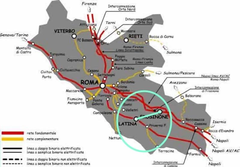 Frosinone Latina in treno - Rete Del Lazio e la simulazione