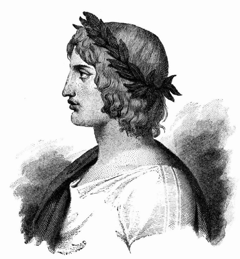 stampa antica - Virgilio il poeta