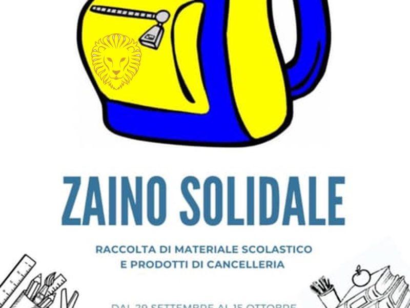 Zaino solidale - Zainetto Blu dell'iniziativa