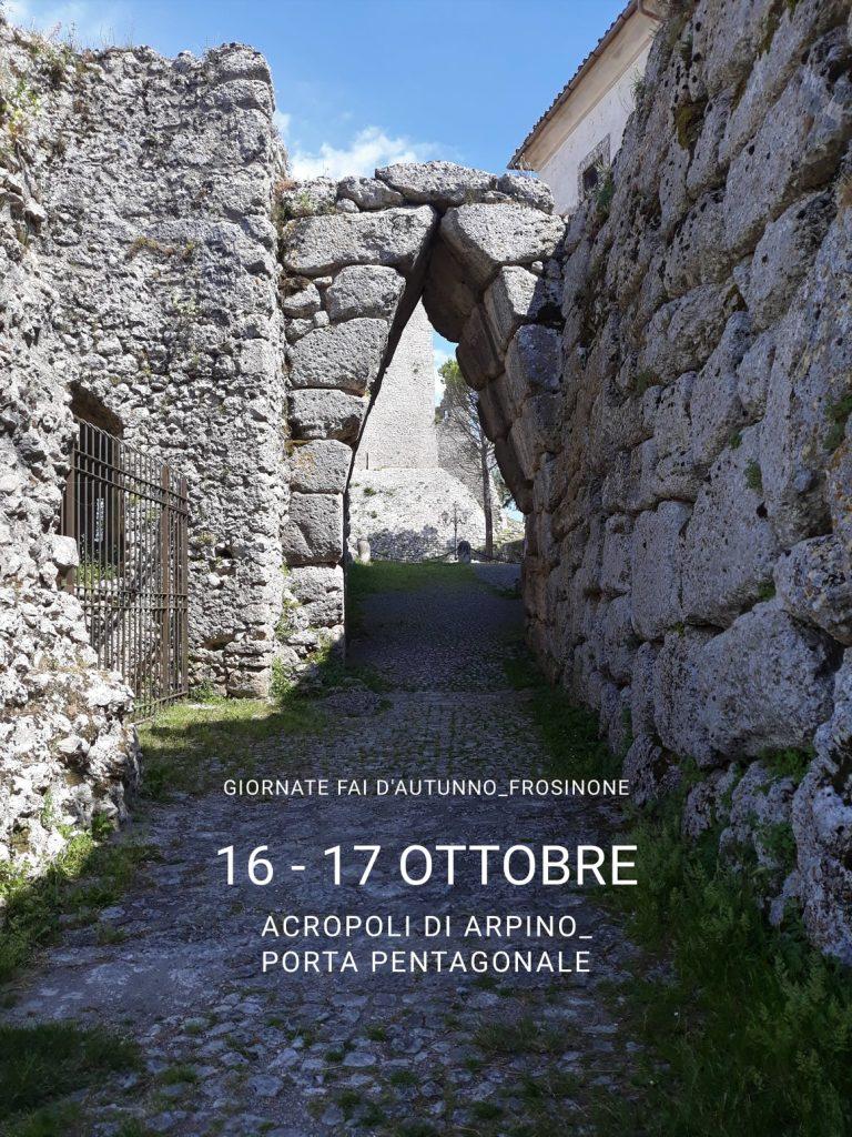 Giornate del FAI ad Arpino - Arco A Sesto Acuto di Arpino