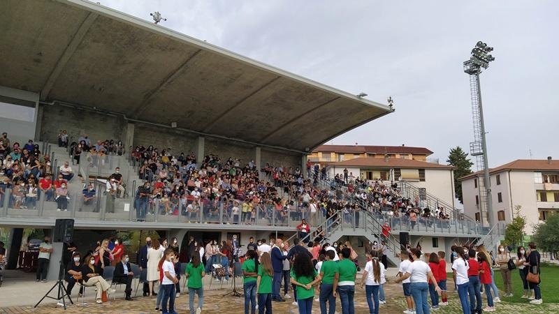 Festa della Scuola - Tribuna del vecchio stadio
